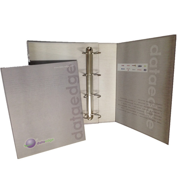 China Cheap Custom Cardboard  PVC File Folder Printing Service  OEM PVC Paperboard D-Ring Binder Supply