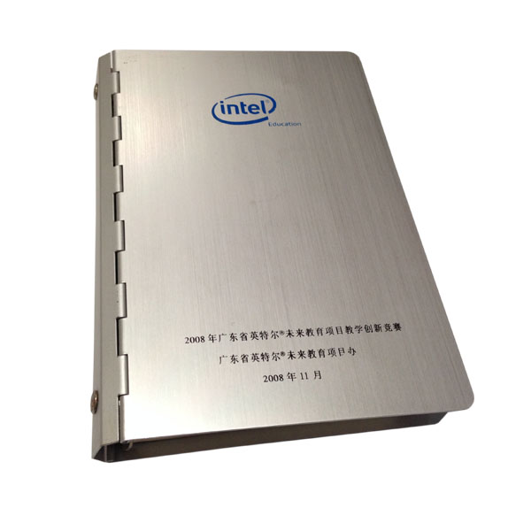 Top Quality Feel Aluminum Metal Cover Agenda