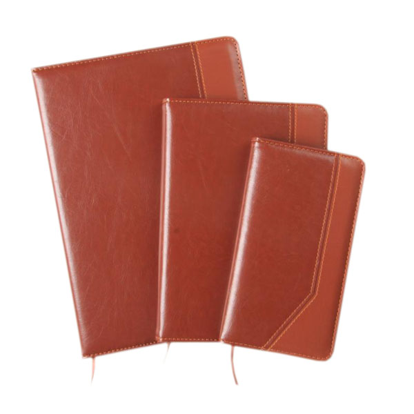 High quality PU Leather cover Agenda Custom printed