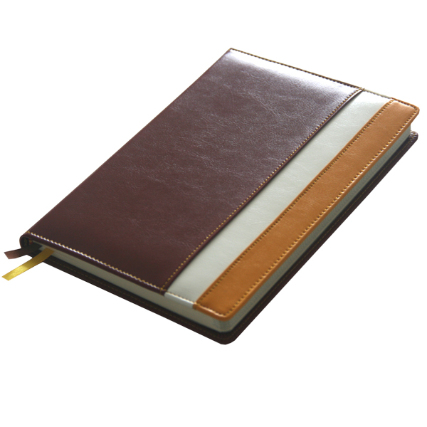 High quality artificial PU leather cover diary