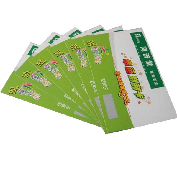High quality scratch card printing with best price