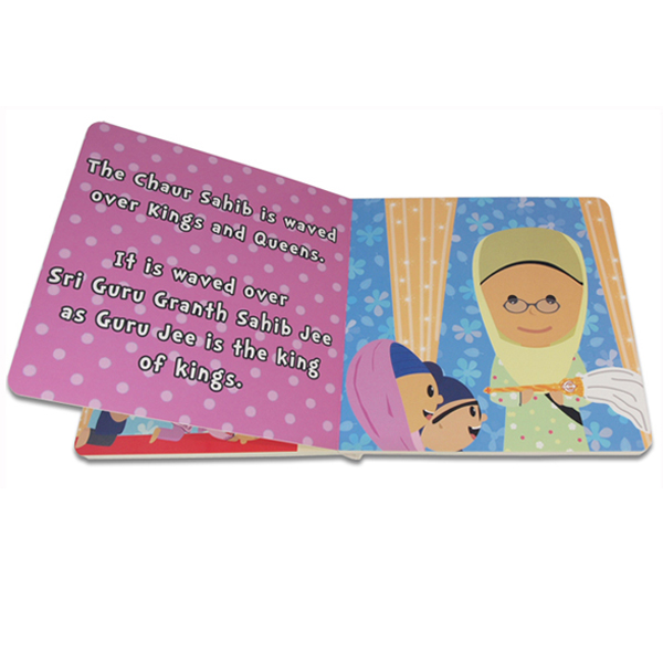 Custom Size Printing Full Color Children English Card Board Book